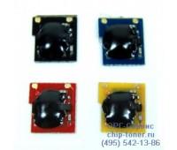 Чип голубого картриджа HP CLJ CP3520/CP3525